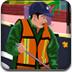 环卫工人清扫道路