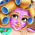 金发公主按摩化妆