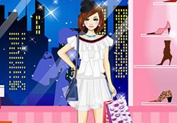 时尚女孩购物装扮