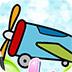 卡通直升机图画册小游戏